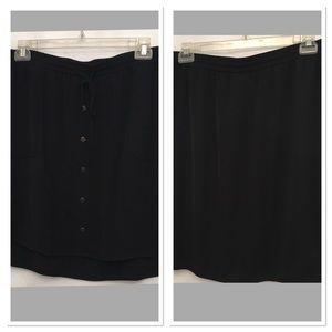APT 9 skirt XL dark blue front buttons side splits